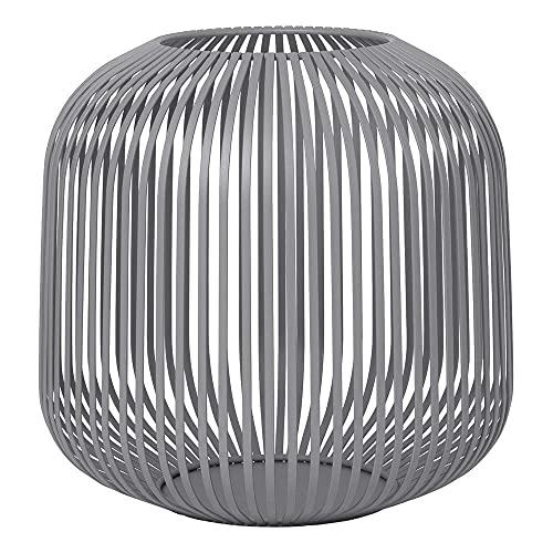 Blomus Laterne LITO Steel Gray medium, Indoor Windlicht, Kerzenhalter, Stahl pulverbeschichtet, 27 cm, 66150