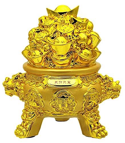Betterdecor Feng Shui Gloden Wealth Treasure Pot Home...
