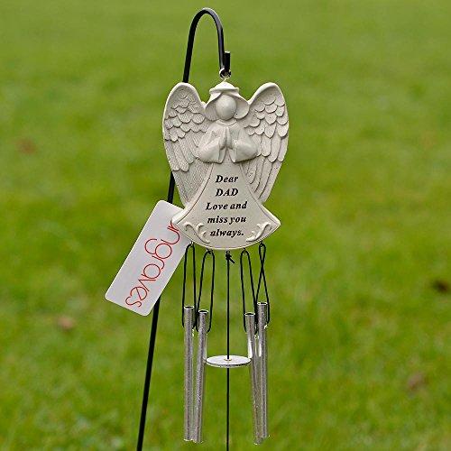 Angraves Carillon commémoratif Motif ange gardien inscription « Dear Dad Love and miss you»