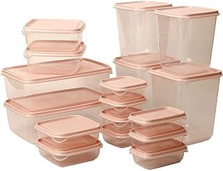 Wangchngqin gfh Bento-doos, Lzrdzsws Food Container, Voedselcontainers 17 Packs Plastic Voedselopslag Set met deksel, vrie...