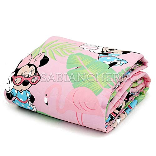 Copriletto Trapuntato Disney Caleffi Minnie Palm Spring-Singolo