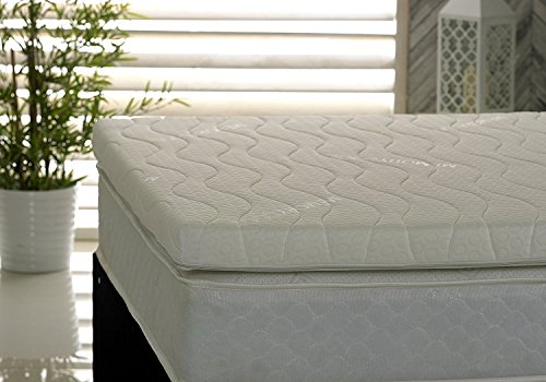 Visco Therapy Memory Foam Fibre 3Inch (7.5cm) Mattress Topper with Free Luxury Cover (4FT Small Double)
