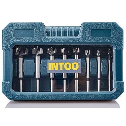 INTOO Forstner Bit Set 8pcs Wood Drill bit Set