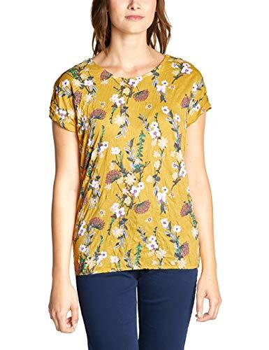 CECIL Damen 313743 T-Shirt, Mehrfarbig (ceylon yellow 31892), Medium (Herstellergröße:M)