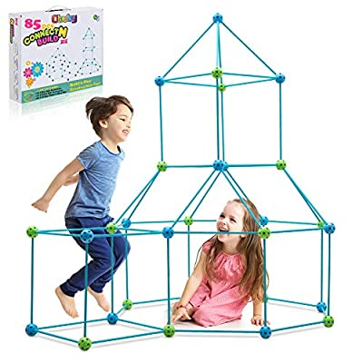 Obuby Kids Fort Building Kit Construction STEM Toys for 5 6 7 8 9 10 11 12 Years Old Boys and Girls Ultimate Forts Builder Gift Build DIY Building Educational Learning Toy for Indoor & Outdoor by LINYILIFANG PLASTIC PRODUCTS CO.,LTD