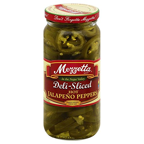 Mezzetta Deli-Sliced Hot Jalapeno Peppers, 16 Ounce (Pack of 6)