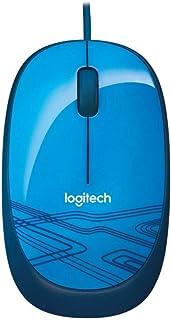 Logitech M105 Wired USB Mouse, 3 أزرار، 1000 DPI Optical Track, يمكن استخدامه بكلتا اليدين PC / Mac / Laptop - أزرق