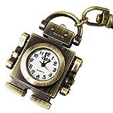 youyoupifa cobre Robot pendent clave cadena anillo cuarzo reloj de bolsillo