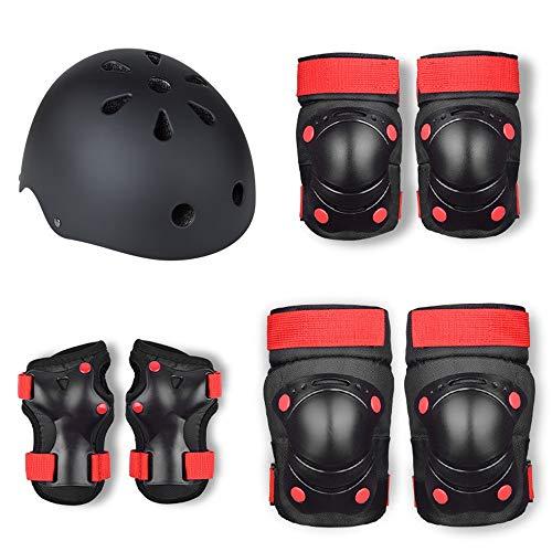 Children's Roller Skating Protective Gear Complete Equilibrio de patinaje de patinaje de patinaje Patinaje de engranajes protectores conjunto de casco para niños Conjunto de engranajes protectores de