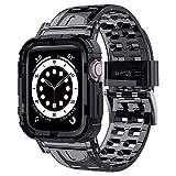 iMangoo Compatible con Apple Watch Correa 38mm 40mm, Transparente Antigolpes Resistente Correa de Reemplazo Deportiva de TPU Suave Compatible con Apple Watch Series SE/6/5/4/3/2 38mm 40mm - Negro