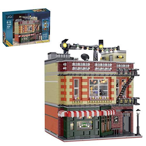 n.g. Wohnkultur Mecotecn 4638pcs Stadtbausteine Freundschaft Café Stadthäuser Architektur Bausteine Bauspielzeug – Kompatibel mit Lego