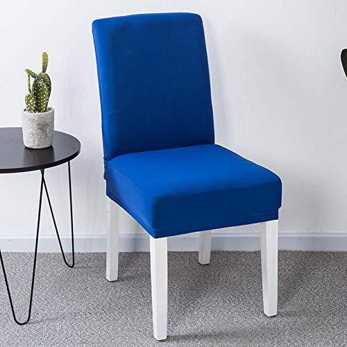 RGBVVM Stuhlhussen Blau Universal Stretchhusse Stuhlbezug Stretch Abnehmbare Waschbar Stuhlbezug für Hotel, Restaurant Dekor(4 Stück)