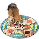 Alfombra para perros, olores, entrenar, juegos, alfombrilla para la nariz para la búsqueda de alimentos, capacidad para liberar el estrés (diámetro: 75 cm)