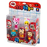 WonderKids Cocomong Bath Water Squirters, Game Toys, for Bath Time, Pool Toys or Water Activities for Boys Girls Birthday Animation Character