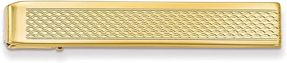 Sonia Jewels Gold-Plated Patterned Tie Bar