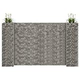 mewmewcat H-shaped gabion planter Gabion fence Mesh basket Stone gabions Wire basket Raised beds Wire baskets for stones with an angular wall thickness Steel wire 260x40x150 cm