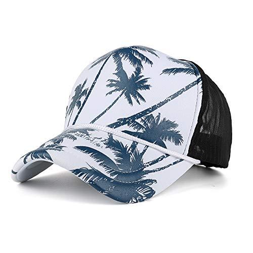 Unisex Ajustable Gorra de béisbol Sombrero de Visera de Verano Sombrero para el Sol Malla Correr Deporte Gorra de Beisbol con Estampado de árbol de Coco, Talla única riou