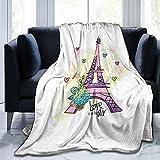 LKTBJEMFY Manta de franela, suave y ligera para todas las estaciones, para cama, sofá, sofá de 152 x 127 cm