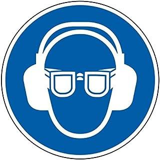 LEMAX Gebotsschild Augen- und Gehörschutz benutzen, praxisbewährt, Kunststoff, Durchmesser 200mm