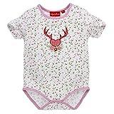 Bondi 86273 - Body para bebé, diseño de Ciervo con Flores, Color Rosa y Blanco...