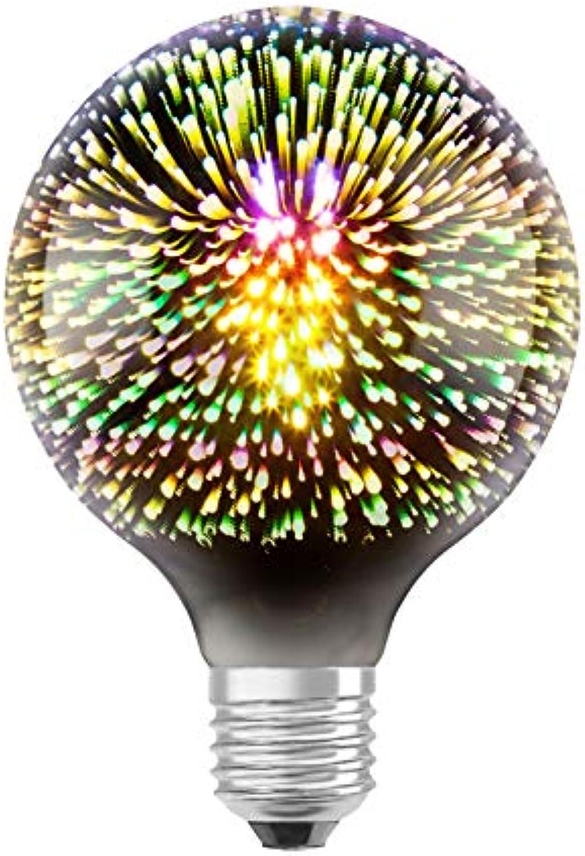 Osram LED Star Globe Universe Lampe, Sockel  E27, Warm Weiß, 2700 K, 3 W, 4er-Pack