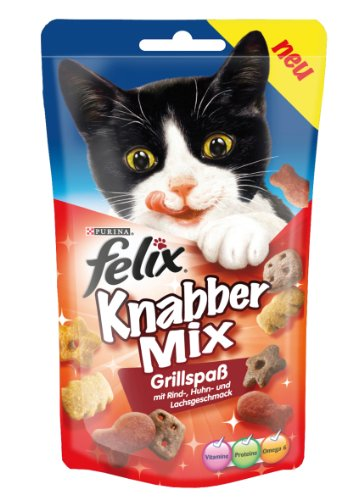 Felix Knabber Mix Grillspaß 60g Snacks (4er Pack) von Purina