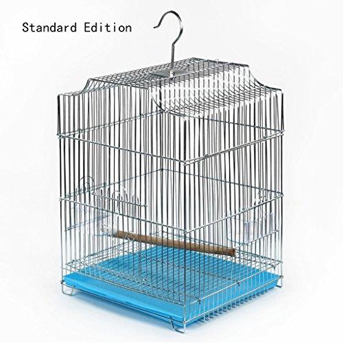Liuyu · Maison de la Vie Grande Cage d'élevage d'animal familier de Perroquet de Perroquet de Birdcage 33 * 30 * 44cm (Color : Blue, Size : Standard Edition)
