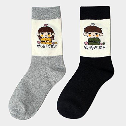 ZXXXFR Medium Tube Socks Cartoon Neutral Socken Liebhaber In Der Tube Studentenbewegung Baumwolle Durchschnittlich 4 Doppelzimmer, EIN