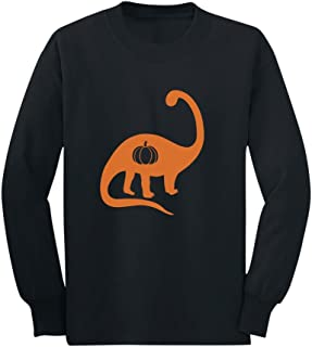 Halloween Cute Dinosaur Jack O' Lantern Pumpkin Toddler/Kids Long Sleeve T-Shirt