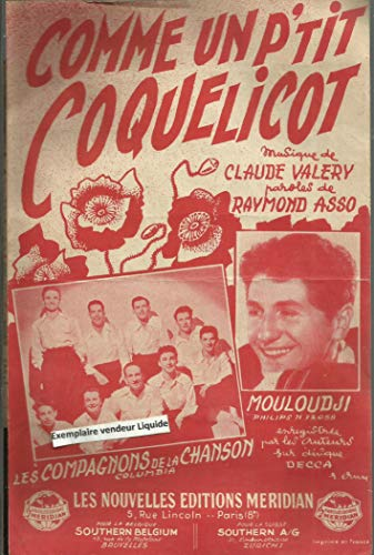 Comme un p\'tit coquelicot - Chanté par Mouloudji, Les Compagnons de La Chanson