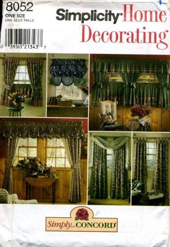 Simplicity Home Decorating House Curtains and Swags Pattern