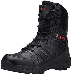 WuyiMC Men Combat Boot - Wear Resisting Non Slip Army Boots Men Waterproof Outdoor