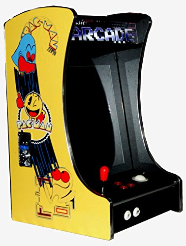 US-Way e.K. G-288 Pac-Man Arcade Video Maschine TV Spielautomat Thekengerät Cabinet Automat 412 Spiele Jamma Games Machine