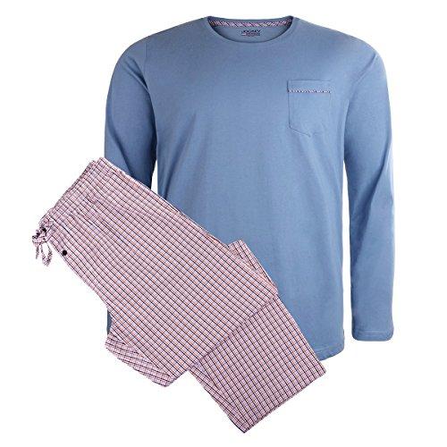 Jockey Langer Pyjama XXL schwarz-rot-blau kariert, XL Größe:3XL