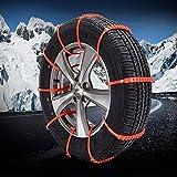 YHtech 10 Coches Cadena de Nieve Universal de los neumáticos de Invierno de Nieve de plástico Antideslizante vehículo Alquiler de Cadena/Todoterreno Antideslizante rápida instalación al Aire Libre
