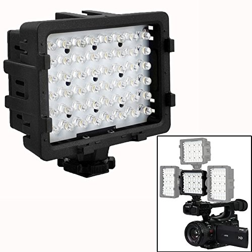 The only Good quality Moda Comoda 48 LED's met 2 filters voor camcorder/camcorder (CN-48H) Bella
