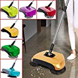 GOOSEBERRY Plastic Rotating Broom Sweeper & Dust Collector (37 cm x 23 cm x 9 cm, Red)