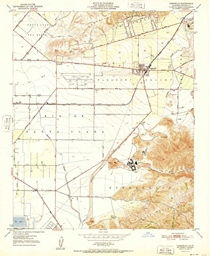 YellowMaps Camarillo CA topo map, 1:24000 Scale, 7.5 X 7.5 Minute, Historical, 1951, 26.8 x 22 in - Paper