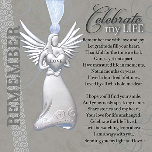 Memorial/Remembrance Angel Ornament with Celebrate My Life Poem- Heartfelt Sympathy Gift for Loss of Loved One (1)