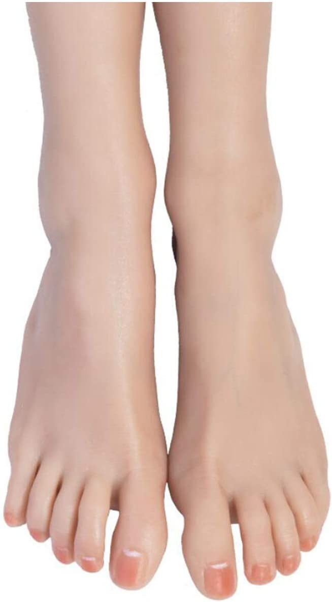 ALBB 1 Pair Atlanta Mall Lifesize Silicone Fee Mannequin Foot - Female Spring new work