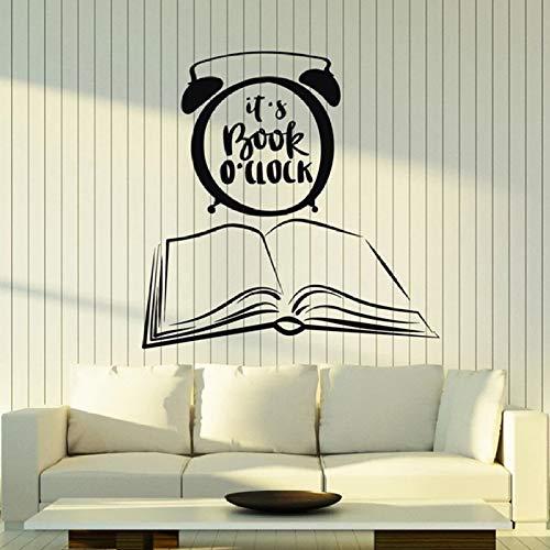 Este es un libro calcomanía de pared cita de libro biblioteca librería lectura esquina habitación decoración arte mural 42 * 42 cm