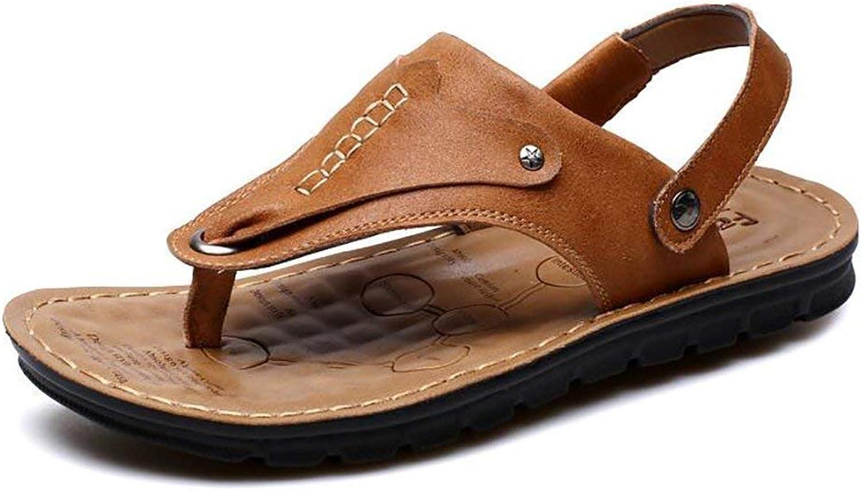 Oudan Men's Casual Sandals Flip Flops Cool And Comfortable Beach Sport Trekking Slipper shoes, Lightbrown, 38 (color   Light brown, Size   38)