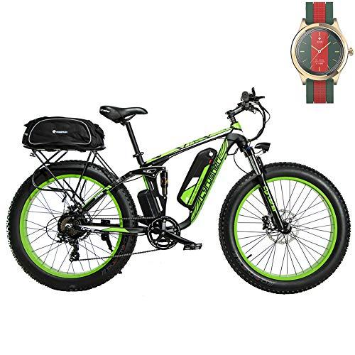 Extrbici Vélo électrique XF800 48V 13A VTT électrique à Vente Limitée Mondiale Support de Charge USB avec Suspension Complète et LCD Intelligent & Gros Pneu 26 x 4.0