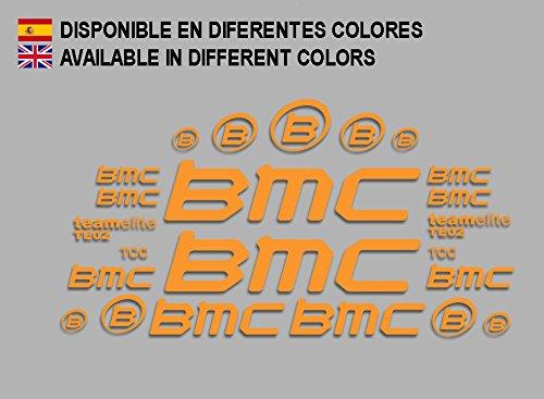 Ecoshirt QZ-8K1G-RE1M Aufkleber BMC F167 Vinyl Adesivi Decal Aufkleber-Set públicArt MTB Stickers Bike, Orange