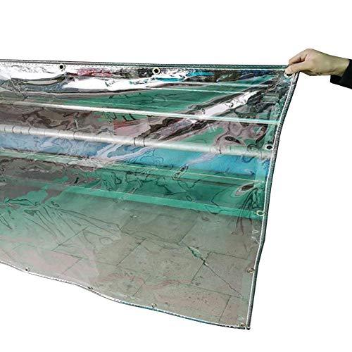Claro Heavy Duty Lona for la Tienda de Empalme toldo de Sombra, a Prueba de Lluvia de PVC Lona Impermeable con Ojales for jardín Patio Cubierta Tienda de campaña (Size : 1.4x2m)