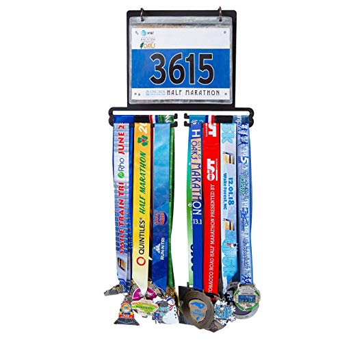 Medal Hanger | Race Bib Holder | 22 POUCHES INCLUDED | Medal Holder | Medal Display | Race Medal Hanger | Marathon Medal Display Holder | Medal Display Hanger | Marathon Medal Display Hanger
