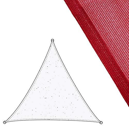 Toldo Vela Triangular Burdeos de Fibra para jardín de 3 m - LOLAhome