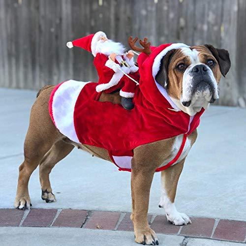 NGwenyicanI - Ropa de Navidad para Perro, Disfraz de Papá Noel,...