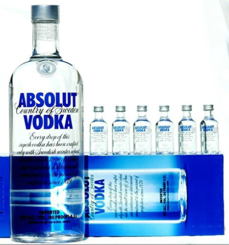 Absolut Vodka 4,5 Liter + 6 Absolut Miniaturen
