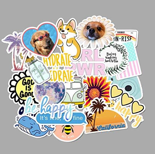 50 Stks Cartoon Sticker Meisje Stijl Leuke Anime Dier Leuke Doodle Meisje Sticker Tiener Diy Make-up Case Laptop koffer